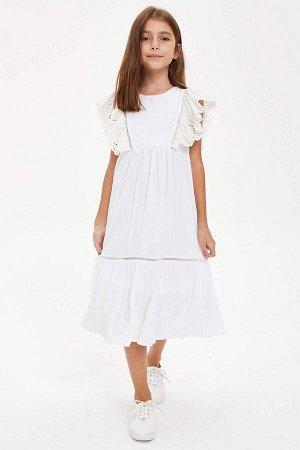Платье экрю