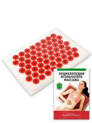 """Массажер Массажер медицинский """"Тибетский аппликатор магнитный"""" на мягкой подложке 17х28 см красный  Особенности: Мягкая подложка толщиной 1 см                 Красные колющие элементы имеют менее остр"""