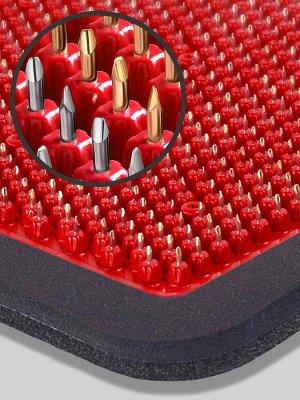 Массажер Массажер медицинский «Аппликатор Кузнецова металломагнитный» на мягкой подложке, 15х22 см, полиметаллический, красный  Основные преимущества:  1. Металлические иглы имеют гладкую, идеальную п