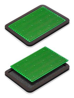 Массажер Массажер медицинский «Аппликатор Кузнецова металломагнитный» на мягкой подложке, 15х22 см, полиметаллический, зеленый  Основные преимущества:  1. Металлические иглы имеют гладкую, идеальную п