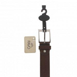 PAVO Ремень мужской, ПУ, сплав, ширина 3,3см, длина 120/130см