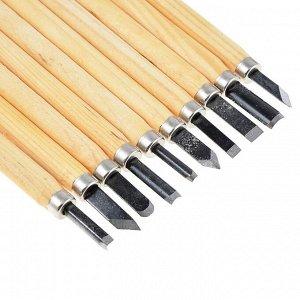 РОКОТ Набор ножей для резьбы по дереву 10пр