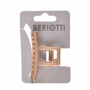 BERIOTTI Заколка-краб для волос, металл, пластик, 5см, 6 цветов, 4426-9