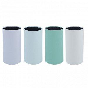 SATOSHI Подставка для ножей с полипропиленовыми разделителями, 11х22см, круглая, 4 цвета