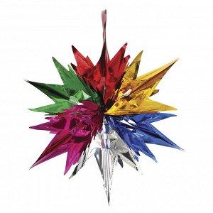 СНОУ БУМ Гирлянда-подвеска 33х30см, ПВХ, в виде Звезды, многоцветная