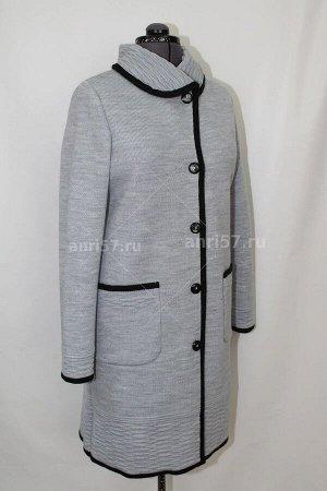 Пальто ж0350 сумерки_чёрный