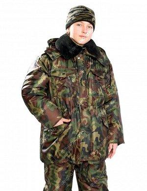 Куртка детская Зима цв.Зеленый КМФ