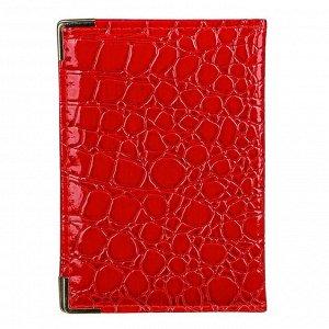 """PAVO Обложка для паспорта, ПВХ, 13,8x9,5см, """"Аллигатор"""", 6 цветов"""
