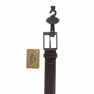 PAVO Ремень мужской, ПУ, сплав, 120/130х3,3см, 2 дизайна, 2 цвета, РМ2019-3