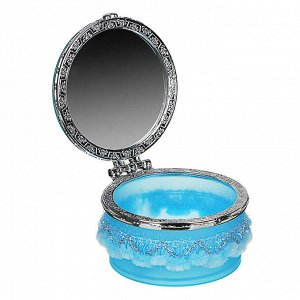 Шкатулка с зеркалом, пластик, 8х8х6,5 см, 12 дизайнов