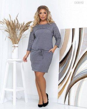 Платье из ангоры Астория  (серый)