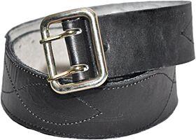 Ремень кожаный черный / коричневый