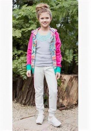 Спортивный трикотажный костюм для девочек 128-134 рост