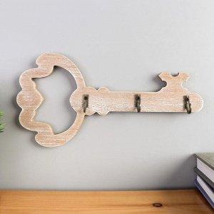 """Крючки декоративные дерево """"Ключ"""" 12х23,5х3 см"""