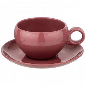 """Чайный набор на 1пер. 2пр. """"fusion"""" 290мл, брусничный"""