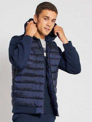 Куртка из двух материалов