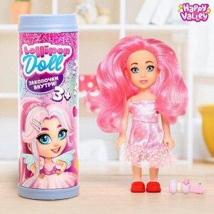 Куколка-сюрприз Lollipop doll с заколкой, МИКС
