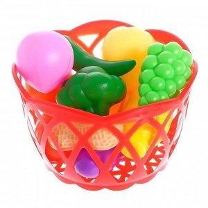 """Набор продуктов """"Фрукты и овощи в корзине"""", 11 предметов, МИКС"""