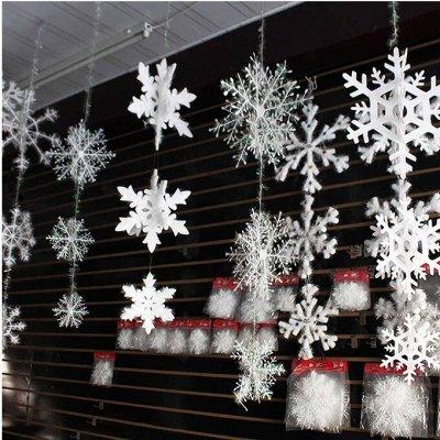 Мимо не пройдешь,все что нужно здесь найдешь.Гирлянды шторы  — Снежинки для декора! — Детали интерьера