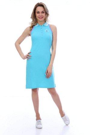 Платье женское, модель 192000, трикотаж (Бирюзовый цвет)