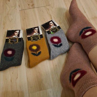 Скоро, скоро Новый год. Всё для праздника, игрушки, сувениры — Тепленькие носочки женские — Все для Нового года
