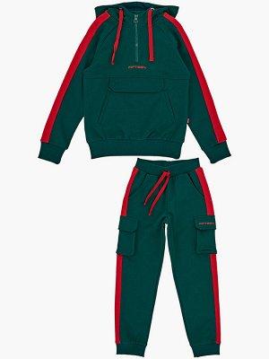 Комплект (122-146см) UD 4744(1)т.зелен/крас