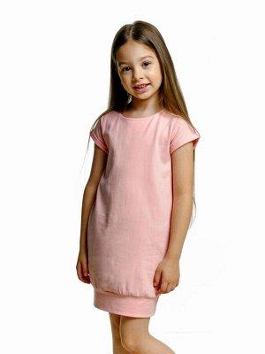 Платье с бантом (98-122см) UD 0633(2)крем-розовый