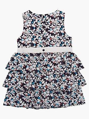 Платье (98-122см) UD 6208(2)син лепестки