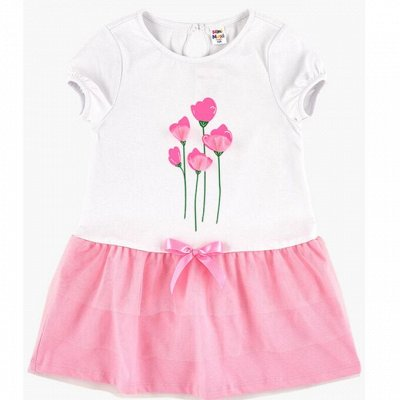 MINI MAXI: Садик+школа самый полный ассортимент  — Для девочек/Платья и сарафаны трикотажные короткий рукав — Платья