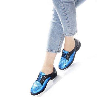Обувь + без рядов! Шикарные новинки осень-зима 2020!  — Туфли низкий ход — Без каблука