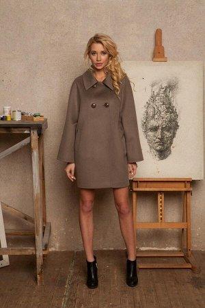 Пальто Цвет темный шоколад (темнее чем на картинке, темно-коричневое) Состав: 70% шерсть, 20% полиамид, 10% кашемир