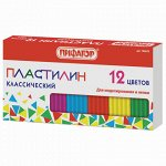 Пластилин классический ПИФАГОР, 12 цветов, 120 г, картонная упаковка, 103678