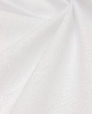 Поплин цв.Белый, ш.1.5 м, хлопок-100%, 100гр/м.кв