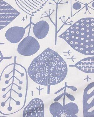 "Поплин ""Скандинавская олива"" цв.серо-синий на белом, (комп), ш.2.2 м, хлопок-100%, 115 гр/м.кв"