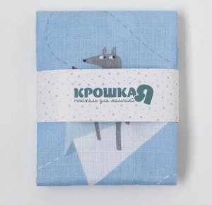 Пеленка Бумажные самолеты 75*120 см, хлопок 100%.