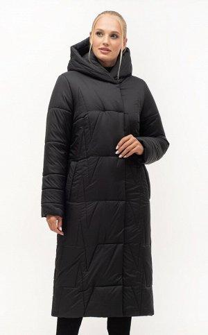 Модный длинный пуховиук Код: 151-1 чёрный