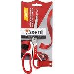 Ножницы Axent Shell 6304-06-A, 18 см, прорезиненные ручки, бело-красные