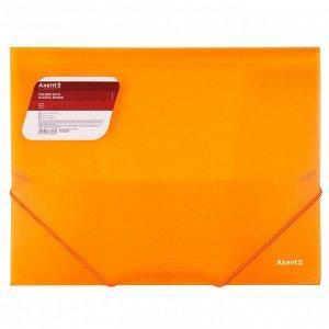 Папка на резинках Axent 1501-25-A, А4, прозрачный оранжевый
