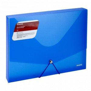 Папка на резинке объемная Axent 1502-22-A, А4, прозрачный синий