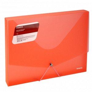 Папка на резинке объемная Axent 1502-24-A, А4, прозрачный красный