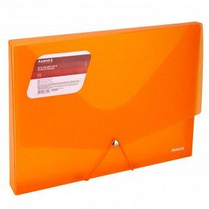Папка на резинке объемная Axent 1502-25-A, А4, прозрачный оранжевый