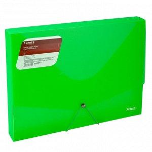 Папка на резинке объемная Axent 1502-26-A, А4, прозрачный зеленый
