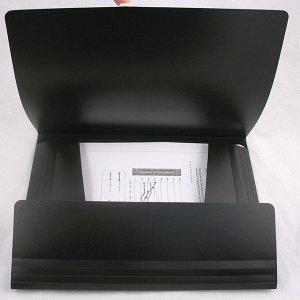 Папка на резинках Axent 1508-01-A, А4, черная