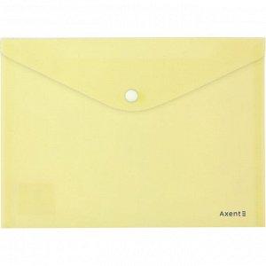Папка на кнопке Axent Pastelini 1522-08-A, А5, желтая