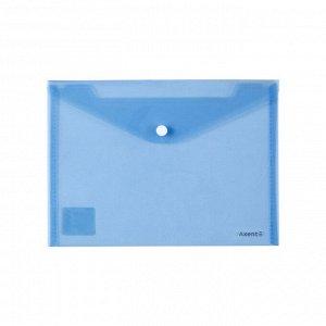 Папка на кнопке Axent 1522-22-A, A5, прозрачная, синяя