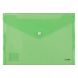 Папка на кнопке Axent 1522-25-A, A5, прозрачная, зеленая