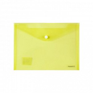 Папка на кнопке Axent 1522-26-A, A5, прозрачная, оранжевая
