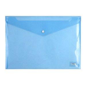 Папка на кнопке Axent 1402-22-A, А4, глянцевая, синяя