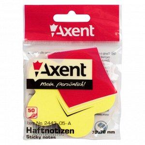 Блок бумаги с липким слоем Axent 2443-05-A, 70x70 мм, 50 листов, цветок