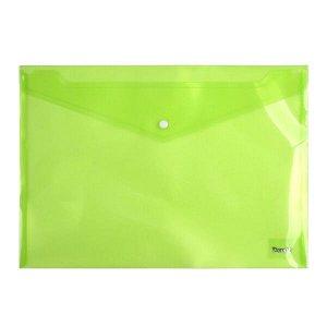 Папка на кнопке Axent 1402-25-A, А4, глянцевая, зеленая